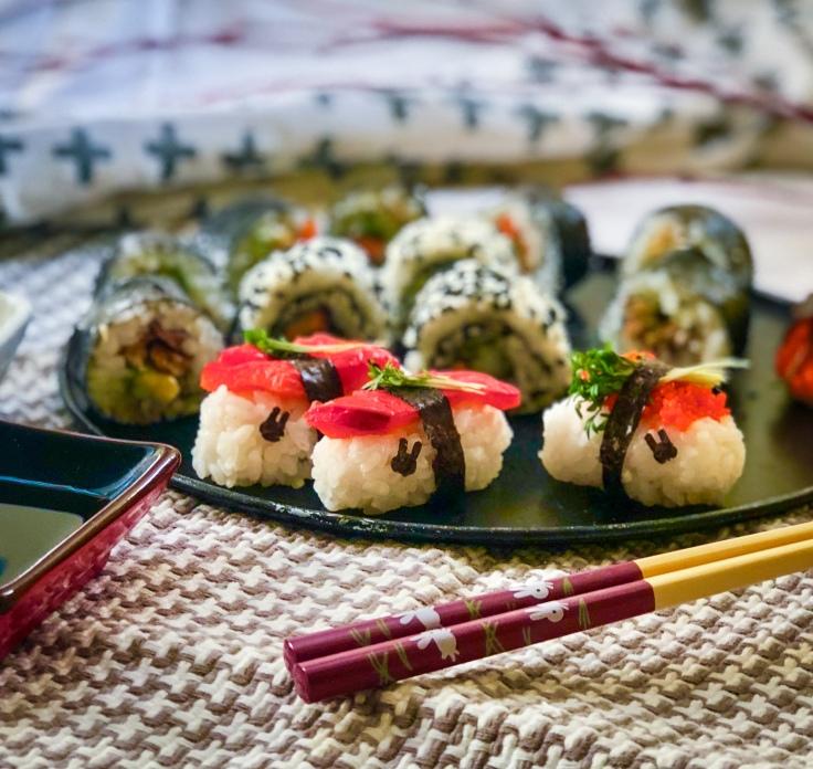 Sushi vegan kawaii