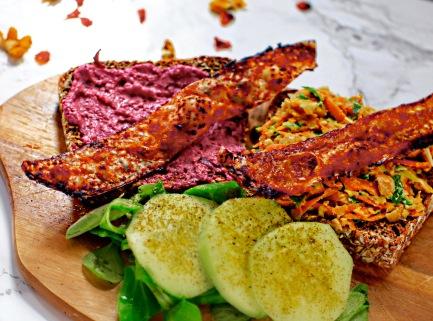 veganer Schinken veganer Bacon bacon-Knusperstangen rezept