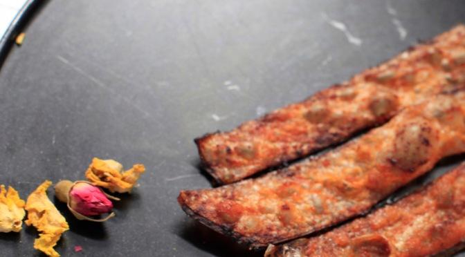"Vegane ""Bacon""-Knusperstangen"