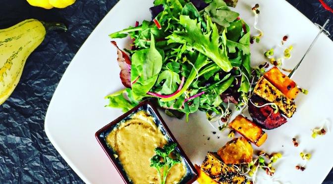 Veganes Souvlaki mit Tofu!