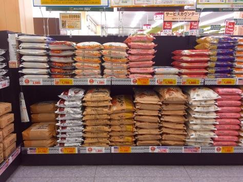 Japanischer Supermarkt reis vegan einkaufen in Japan