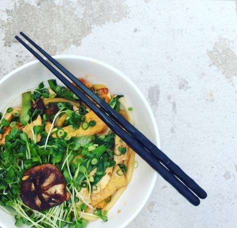 vegan Udon kochen Rezept anleitung
