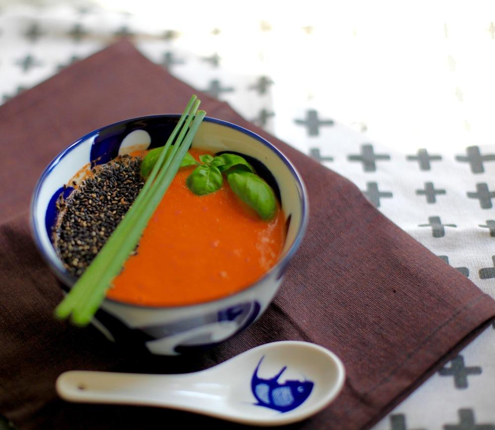 Tomaten Miso Suppe vegan Rezept