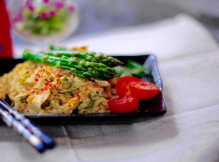 cremige pasta vegan kochen rezept sparen einfach