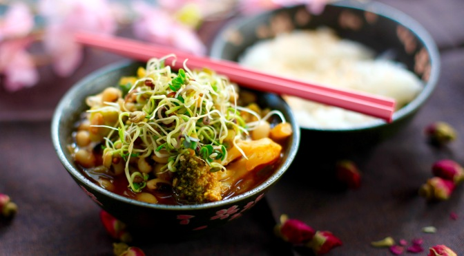 Koreanisch inspiriert! Veganer Gochujang Stew!