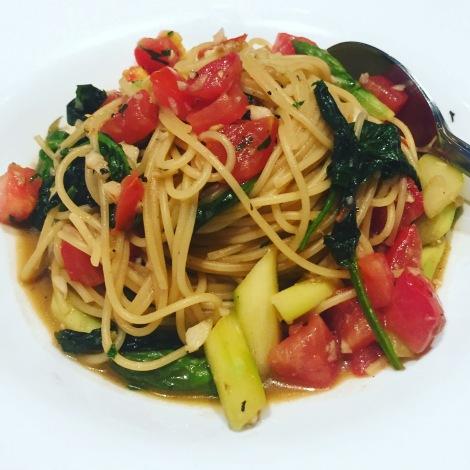 Schlicht besticht! Spaghetti mit Gemüse!