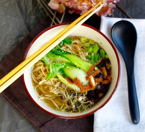 Mie Nudel Suppen selber kochen vegan