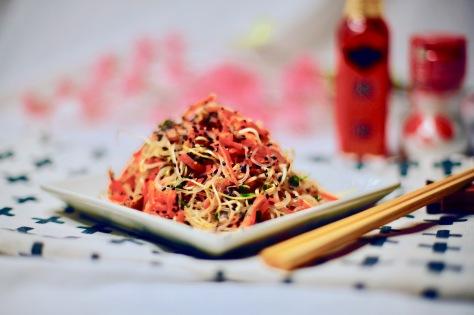 sprossen glassnudel salat vegan asia