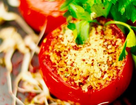 tomaten ofen gebacken gefüllt vegan selber machen