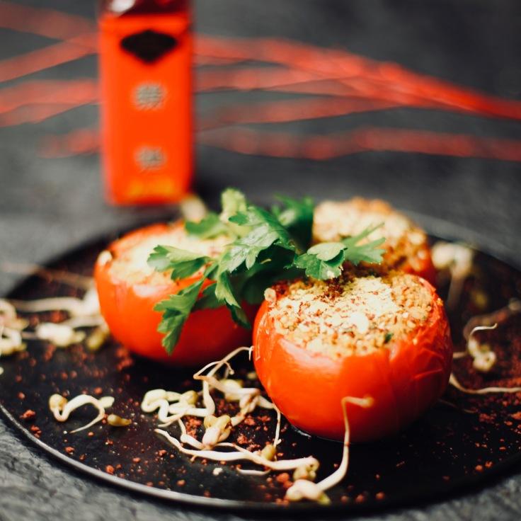 tomaten ofen vegan vegetarisch rezept