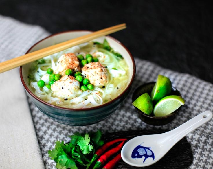 Nudelsuppe supreme asia suppe mit fischbällchen rezept vegan