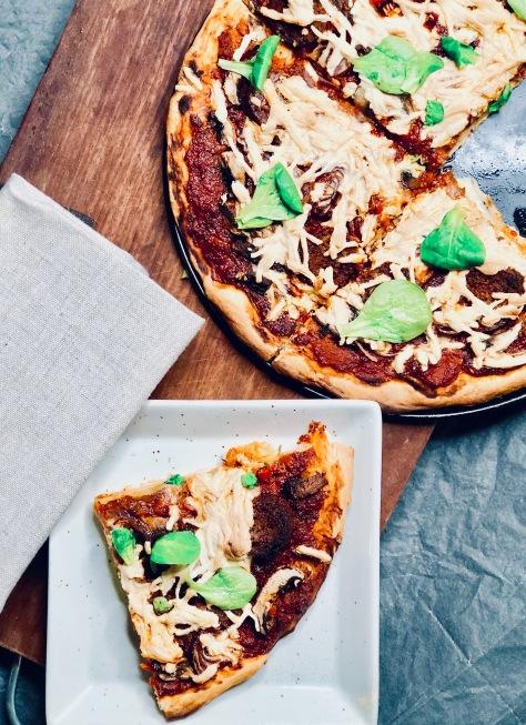 vegane pizza diavola rezept