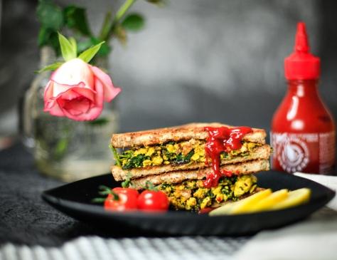 sandwich tofu vegan rührei rezept