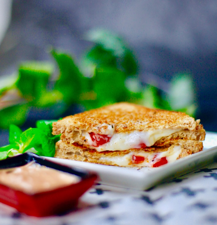 vegan toast kaese daiaya swiss style