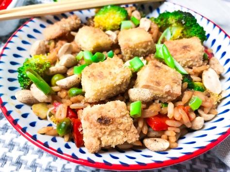 Veganes nasi goreng vegan wo ohne ei