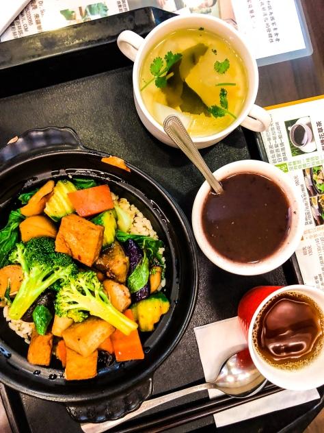 vegan set lunch taipei