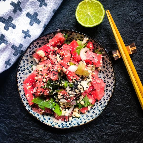 Wassermelone Salat Minze Rezept